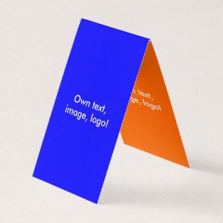 Business Card Folded Tent V Royal Blue-Orange