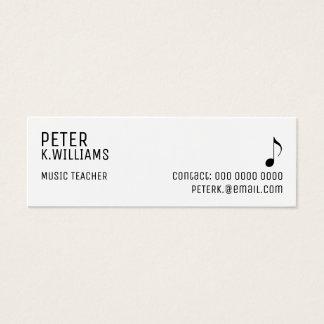 business card for a music teacher
