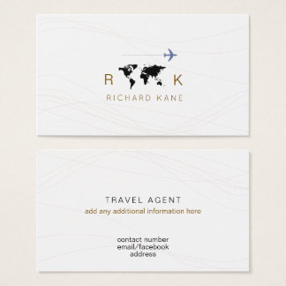 business card for a travel agent