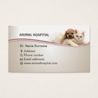 business card for animal hospital doctor