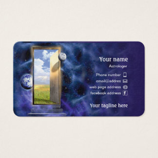 Business card for astrologer.