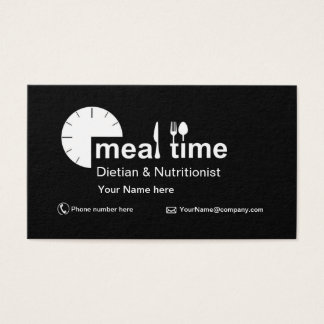 Business card  for Dietician & Nutritionist