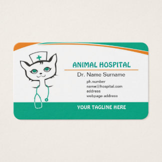 Business card for doctor in Animal hospital