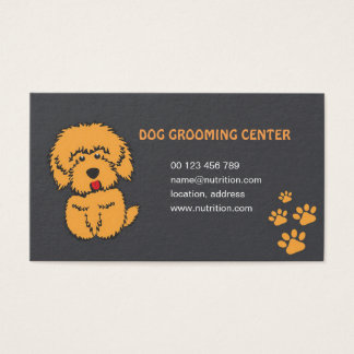 business card for dog grooming salon