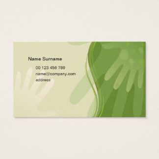 Business card for massage specialist