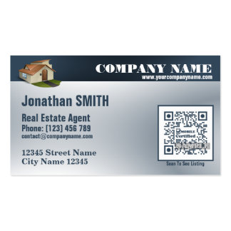 Business card for real estate agent (with QR code)