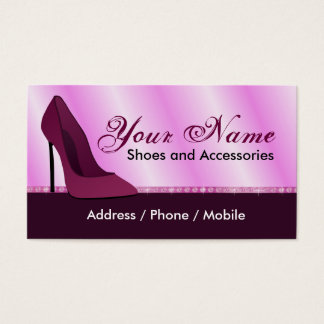 Business card for shoes store