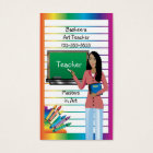 Business card for teacher, professor or substitute