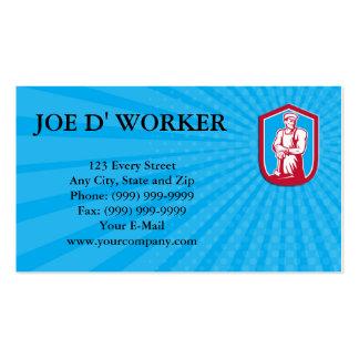Business card Foundry Worker Blacksmith Hammer Ret