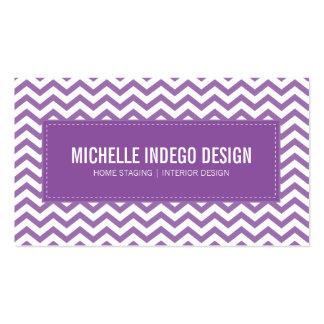 BUSINESS CARD fresh chevron pattern purple