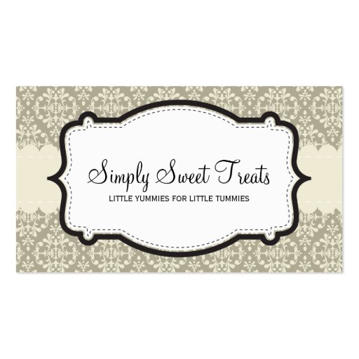 BUSINESS CARD :: funky damask 9L