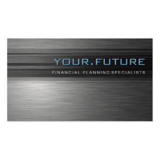 BUSINESS CARD :: futuristic modern metal L4
