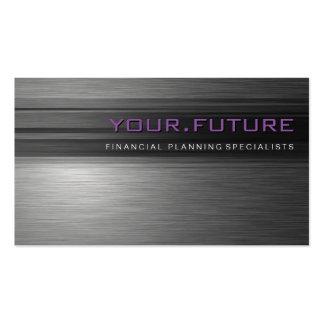 BUSINESS CARD :: futuristic modern metal L5