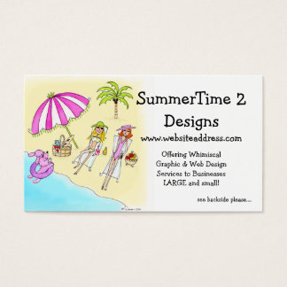 Business Card :: Girls at the Beach