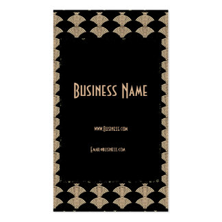 Business Card Gold Black Art Deco Business Card Templates