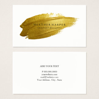 Business Card - Gold Brushstroke