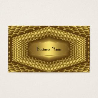 Business Card Gold Metal