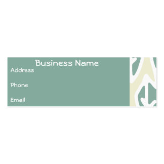 Business Card Green & Cream Leaf