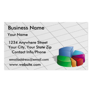 Business Card Green Pie Chart