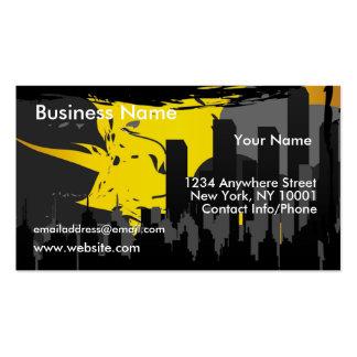 Business Card Grunge City Sunset