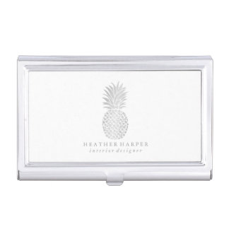 Business Card Holder - Silver Pineapple