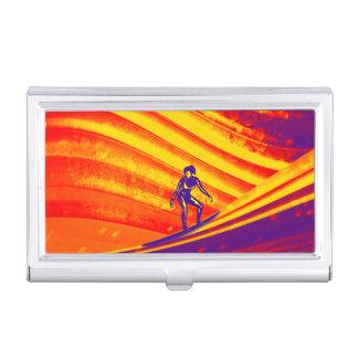 Business Card Holder, Surfing at Sunset Business Card Holder