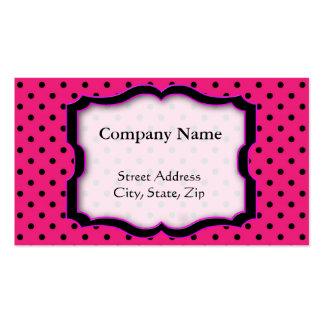 Business card Hot Pink Polka Dot