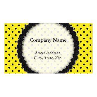 Business card Hot Yellow Polka Dot