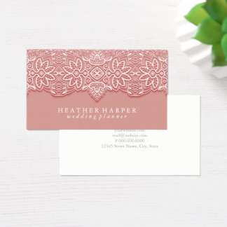 Business Card - Laced Pink