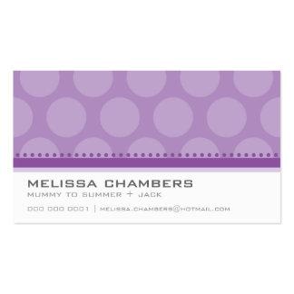 BUSINESS CARD large spot pattern violet purple