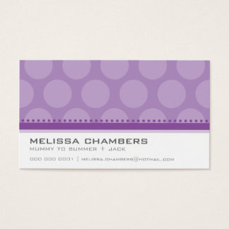 BUSINESS CARD large spot pattern violet purple