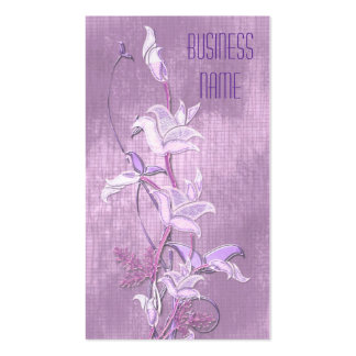 Business Card Lilac Flowers