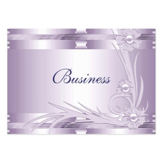 Business Card Lilac Mauve Art Deco Floral