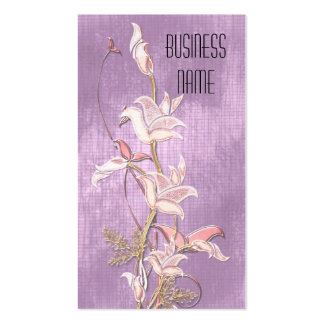 Business Card Lilac Pink Flowers