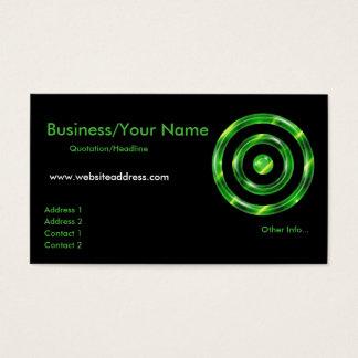 Business Card :: Lime Green Bullseye Design