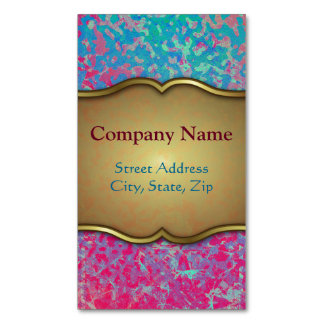 Business Card Magnet Colorful Corroded Background Magnetic Business Cards
