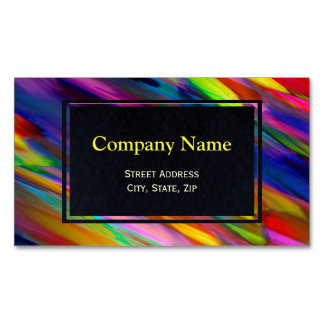 Business Card Magnet Colorful digitalart splashing Magnetic Business Cards