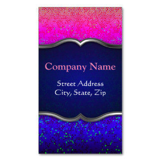 Business Card Magnet Glitter Star Dust Magnetic Business Cards