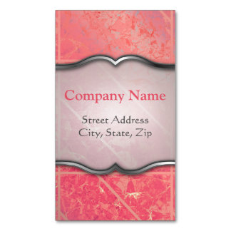 Business Card Magnet Pink Marble Texture Magnetic Business Cards