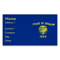 Business Card Magnet with Flag of Oregon