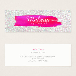 Business Card -  Makeup Brushstroke Iridescent