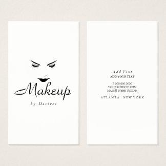 Business Card - Makeup Simplistic Lashes Lips
