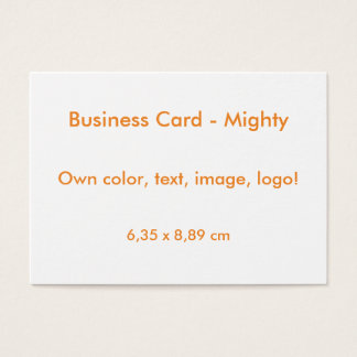 Business Card Mighty uni White ~ Own Color