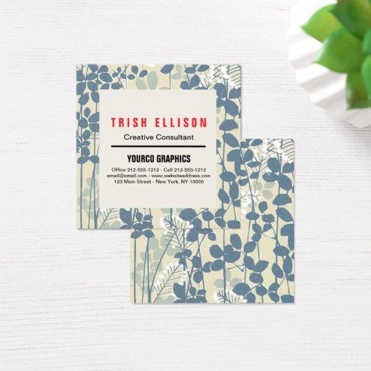 Business Card Minimalist Custom Template Floral