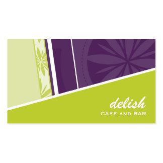 BUSINESS CARD modern funky angle lime purple