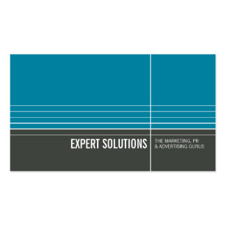 BUSINESS CARD modern minimal lines turquoise grey