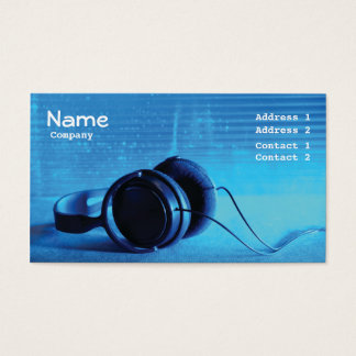 business card  music