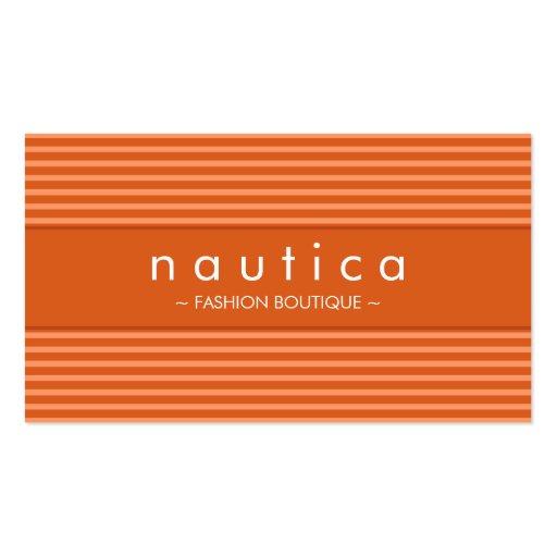 BUSINESS CARD :: nautical striped 15