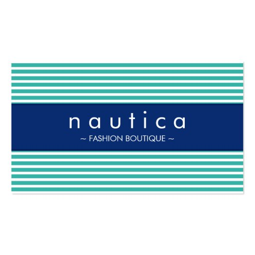 BUSINESS CARD :: nautical striped 20