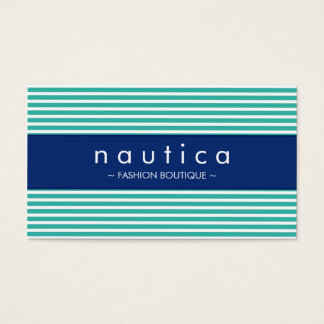 BUSINESS CARD :: nautical striped 20